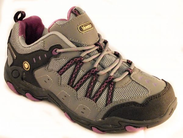 Cooper purple/black waterproof ladies walking trainer